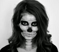 Skeleton makeup tutorial for Halloween | Scary makeup ideas for Halloween