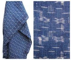 Soft IKAT. Japanese Indigo Kasuri Cotton. Fine, Light and Beautifully Soft. (Ref: 230). ¥3,500, via Etsy.