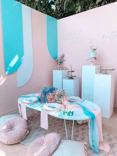Turquoise and Pink Mermaid Birthday Party on Kara's Party Ideas | KarasPartyIdeas.com (8) Mermaid Party Decorations, Mermaid Parties, Balloon Decorations, Birthday Party Decorations, Birthday Parties, Mermaid Balloons, Mermaid Kids, Classy Halloween, Sprinkle Party