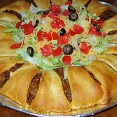 The Taco Ring! 4 main ingredients and the rest is up to you ;)