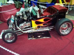 "Custom show mini t bucket.... Now this is a go ""fast"" kart"