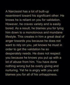 A narcissist