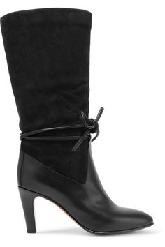 7a6e366f9ec Chloé - Suede And Leather Boots - SALE20 at Checkout for an extra 20% off