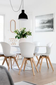 Scandinavian design in a home in Sidney. White design epitomized in the beautiful Adelaide chair.