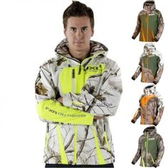 FXR Racing Mission Realtree Softshell Mens Skiing Snowmobile Hooded Jackets