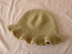 How to crochet a simple women's sun hat - summer hat for beginners - YouTube