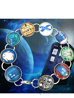 Dr. Who Bracelet    Here is a very cool bracelet. It is made with sealed digital prints, and then placed in a lead safe bracelet. On top, you