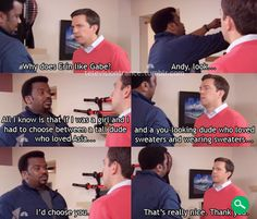 Craig Robinson Ed Helms Andy The Office theoffice girlfriend
