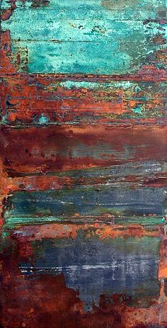 finds identity with shapes TEXTURE- Rust and turquoise.oooohhhh, if I could paint a piece of furniture to replicate these colors/patinaTEXTURE- Rust and turquoise.oooohhhh, if I could paint a piece of furniture to replicate these colors/patina Peeling Paint, Art Plastique, Textures Patterns, Painting Inspiration, Abstract Art, Abstract Nature, Abstract Landscape, Colours, Wall Art