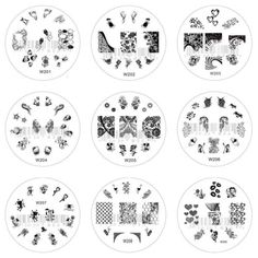 Nail-Art-Stamp-Stamping-Image-Template-Plate-W-Series-1-W201-W209-NEW