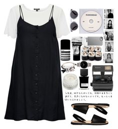 """""""Monochrome All Day Long"""" by nabilci on Polyvore featuring Aesop, Park Lane, Topshop, ONLY, Impossible, KEEP ME, Illesteva, Larsson & Jennings, MiN New York and Chantecaille"""