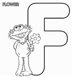 Sesame Street Coloring Pages F
