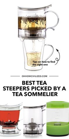 Leave it to a tea sommelier to pick out the best tea steepers for you! In this post I share the best, bang for the buck tea steepers that are sought out in the market today. Click to browse. Hot Tea Recipes, Perfect Cup Of Tea, Tea Sandwiches, Brewing Tea, Best Tea, How To Make Tea, Milk Tea, Tea Parties, Tea Time