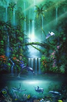 Painting- originally pinned by my sister Bev . I miss her very much. . Paradise conditions soon.....