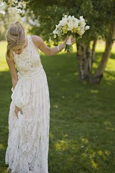 lace and more lace // lace wedding dress