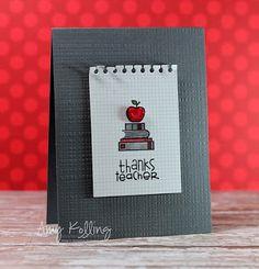 Paper Smooches: The PS Patrol - card by Amy Kolling Teacher Appreciation Cards, Teacher Cards, Teacher Gifts, Teacher Stickers, Teacher Notes, Teacher Stuff, Thanks Teacher, Handmade Birthday Cards, Handmade Cards