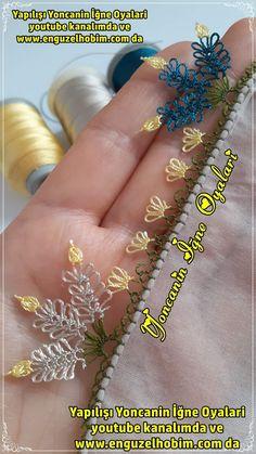 Needle Tatting, Tatting Lace, Needle Lace, Embroidery Jewelry, Embroidery Stitches, Hand Embroidery, Lace Patterns, Baby Knitting Patterns, Saree Kuchu New Designs