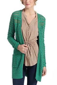 By Far Away from Close for Anthropologie  Blythe Eyelet Cardigan