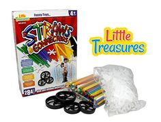 Little Treasures Straws And Connectors Building Kit - 4 Inches - Pack of 284 Pcs - Assorted Colors - Children's Favorite Game * You can find out more details at the link of the image.