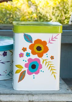 """Peony"" tin container – Show all – GUDRUN SJÖDÉN – Webshop, mail order and boutiques 