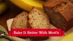 Warm banana bread, fresh out of the oven? Made better with Mott's Applesauce? That's a perfect treat for a holiday brunch party.