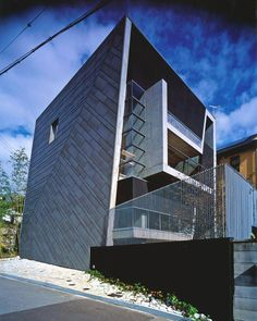 Trapezoid house, Hyogo, Japan by Shogo Aratani Architect & Associates