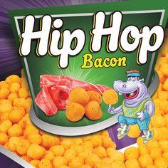 Hip Hop Corn Puffs Packaging on Behance Corn Puffs, Cereal, Bacon, Hip Hop, Packaging, Behance, Mood, Breakfast, Behavior