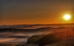 """Sunrise over the """"Winkeler Maar"""" closed to the Village #Gillenfeld, Volcano-Eifel.  More photos from #Pulvermaar and  #Vulkaneifel https://www.facebook.com/Feriendorf.Pulvermaar"""