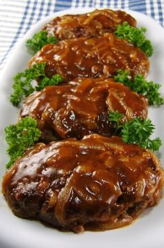 salisbury steak w/caramelized onion gravy , I also wanted to show you a solution that worked for me! I saw this new weight loss product on CNN and I have lost 26 pounds so far. Check it out here http://weightpage222.com