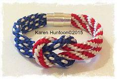 Kumihimo 4th of July Square Knot Bracelet Kit © Karen Huntoon 2015