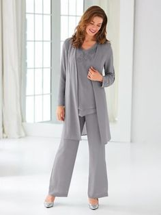 c90cd758c89f9 Duster Pants Set By Koret® Dressy Pant Suits