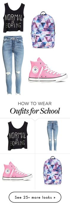 """School look"" by omgitskelsey13 on Polyvore featuring Converse, Accessorize, cute, outfit and school"