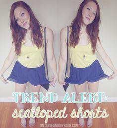 trend: scalloped shorts #fashion #style #trends on oliveandivyblog.com