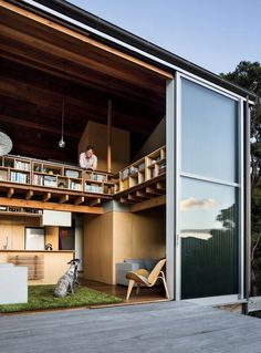 We already got Modern Tiny House on Small Budget and will make you swon. This Collections of Modern Tiny House Design is designed for Maximum impact. Modern Small House Design, Tiny House Design, Loft Design, Small Modern Houses, Contemporary Houses, Contemporary Architecture, Design Design, Architecture Design, Building Architecture