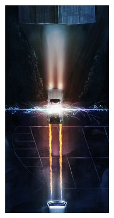 La DeLorean de Retour vers le Futur vue du ciel