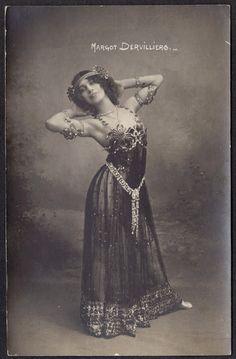 Margot Dervilliers in Sheer Art Nouveau Dance Costume