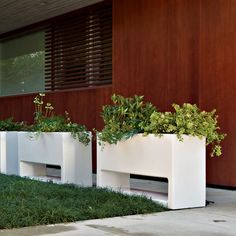 Lluna Indoor-Outdoor Planter - outdoor planters - chicago - Home Infatuation Large Outdoor Planters, Vertical Planter, Indoor Outdoor, Outdoor Decor, Outdoor Stuff, Garden Boxes, Garden Planters, Garden Ideas, Tiered Garden