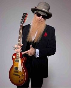 Music Guitar, Cool Guitar, Guitar Body, Guitar Art, Zz Top Billy Gibbons, Billy Gibbons Guitar, Famous Guitars, Best Guitar Players, Famous Musicians
