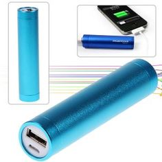 2600mAh Alloy Series Portable Universal Power Bank for iPhone 4/4S 3GS/3G Blue