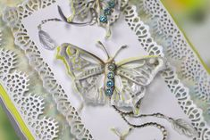 Part of the Butterfly Garden Collection by Tattered Lace Card Maker, Butterfly, Brooch, Crafty, Lace, Cards, Handmade, Etsy, Cardmaking
