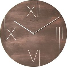 """17 Stories 16.93"""" Round Wall Clock Color: Brown"""