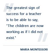 Montessori encourages the children to be a community of independent thinkers who can solve problems and work together peacefully.