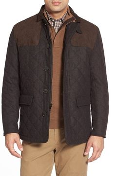 Hart Schaffner Marx 'Shooter' Wool Blend Quilted Jacket - Nordstrom