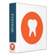 Dentist Logo Icon Binder - custom diy cyo personalize gift ideas