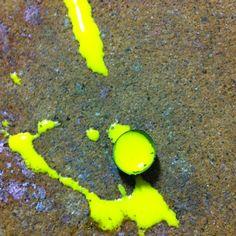 An artistic paintball