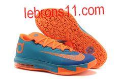 Kevin Durant 6 Photo Blue Team Orange Shoes