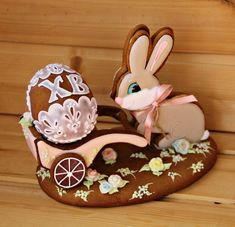Easter Cookies, Fun Cookies, Beautiful Desserts, Fondant Cakes, Gingerbread Cookies, Cake Decorating, Projects To Try, Bunny, Clay