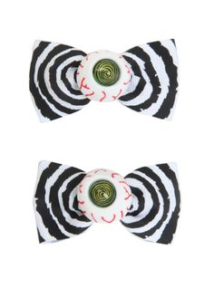 Hair bows with ribbon bow and plastic eyeball design. HOT TOPIC STORES!!!