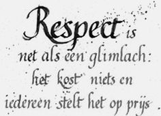 Image result for tekst respect
