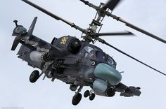 Russian attack helicopter Ka-52. This heavy vehicle moves so gracefully that it seems to be dancing in the air…
